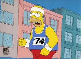 Homer Simpson che fa running