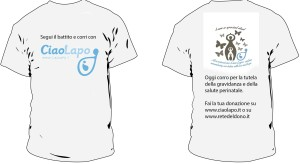 maglietta crowdfunding CiaLapo ONLUS